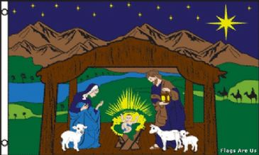 Christmas Mary and Joseph Nativity Scene